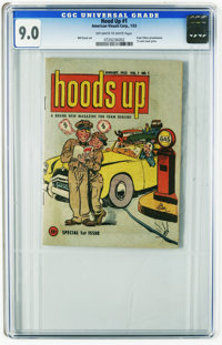 Hoods Up #1 (American Visuals Corp., 1953) CGC VF/NM 9.0 Off-white to white pages. Fram Filters promotional mini-comic b...