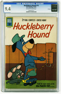 Huckleberry Hound #13 File Copy (Dell, 1961) CGC NM 9.4 Off-white to white pages. Overstreet 2005 NM- 9.2 value = $65. C...