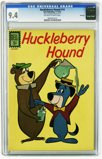 Huckleberry Hound #14 File Copy (Dell, 1961) CGC NM 9.4 Off-white to white pages. Overstreet 2005 NM- 9.2 value = $65. C...