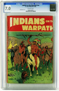 Indians on the Warpath #nn (St. John, 1951) CGC FN/VF 7.0 Off-white pages. A Matt Baker cover graces this issue, and the...