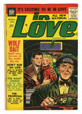 "Golden Age (1938-1955):Romance, In Love #4 (Charlton, 1955) Condition: FN+. Simon & Kirby art.Overstreet lists as ""rare."" Overstreet 2005 FN 6.0 value = $7..."