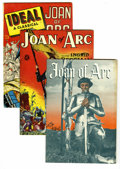 Golden Age (1938-1955):Non-Fiction, Joan of Arc Group (Miscellaneous, 1949) Condition: Average VF-. TheJoan of Arc story as depicted in three comics includes: ... (Total:3 Comic Books)