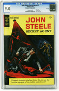 Silver Age (1956-1969):Adventure, John Steele Secret Agent #1 File Copy (Gold Key, 1964) CGC VF/NM 9.0 Off-white to white pages. Only issue of the series. Pai...