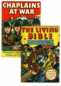 Living Bible #1 and 3 Group (Living Bible Corp., 1945-46). Artist L. B. Cole drew the covers for #1 (VG; life of Paul) a...