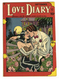 Golden Age (1938-1955):Romance, Love Diary #1 (Quality, 1949) Condition: VG+. Bill Ward cover andart. Overstreet 2005 VG 4.0 value = $64....