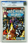 Bronze Age (1970-1979):Science Fiction, Machine Man #11 (Marvel, 1979) CGC NM+ 9.6 White pages. Steve Ditko art. Overstreet 2005 NM- 9.2 value = $5. CGC census 12/0...