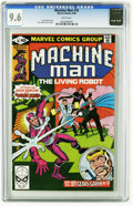 Modern Age (1980-Present):Science Fiction, Machine Man #16 (Marvel, 1980) CGC NM+ 9.6 White pages. Steve Ditkocover and art. Overstreet 2005 NM- 9.2 value = $5. CGC c...