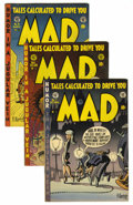 Magazines:Mad, Mad #7-10 Group (EC, 1953-54) Condition: Average Apparent VG/FN.Included are #7, 8, 9, and 10. All show various signs of re...(Total: 4 Comic Books)