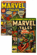 Golden Age (1938-1955):Horror, Marvel Tales #103 and 104 Group (Atlas, 1951). This group containsissues #103 (FR condition, with insect damage) and 104 (V...(Total: 2 Comic Books)