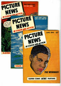Golden Age (1938-1955):Non-Fiction, Picture News #6, 8, and 9 Group (Lafayette Street Corp., 1946).This group, which will take you to the year 1946, includes: ...(Total: 3 Comic Books)