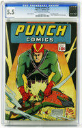Golden Age (1938-1955):Superhero, Punch Comics #1 (Chesler, 1941) CGC FN- 5.5 Light tan to off-white pages. Mr. E, the Sky Chief, Hale the Magician, and Kitty...