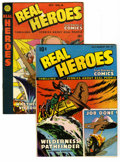 Golden Age (1938-1955):Non-Fiction, Real Heroes Comics #15 and 16 Group (Parents' Magazine Institute,1946). Group includes: #15 (FN/VF) and 16 (VG+; minor tape...(Total: 2 Comic Books)