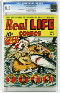 Golden Age (1938-1955):Non-Fiction, Real Life Comics #11 Pennsylvania pedigree (Nedor Publications,1943) CGC VF+ 8.5 Cream to off-white pages. Alex Schomburg c...