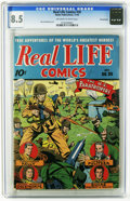 Golden Age (1938-1955):War, Real Life Comics #20 Pennsylvania pedigree (Nedor Publications,1944) CGC VF+ 8.5 Off-white to white pages. Alex Schomburg. ...
