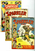 Golden Age (1938-1955):Miscellaneous, Sparkler Comics Group (United Features Syndicate, 1942-51). Three-issue group includes #10 (VG+, Spark Man's identity reveal... (Total: 3 Comic Books)