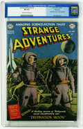 "Golden Age (1938-1955):Science Fiction, Strange Adventures #1 Windy City pedigree (DC, 1950) CGC FN 6.0Cream to off-white pages. Features a ""Destination Moon"" movi..."