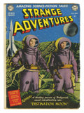 """Golden Age (1938-1955):Science Fiction, Strange Adventures #1 (DC, 1950) Condition: GD/VG. Adaptation of""""Destination Moon."""" Striking photo/wash/ hybrid cover. Over..."""