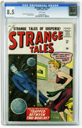 Silver Age (1956-1969):Science Fiction, Strange Tales #67 (Marvel, 1959) CGC VF+ 8.5 White pages. Prototypeissue (Quicksilver). Joe Sinnott cover. Jack Kirby and S...