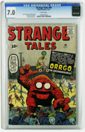 Silver Age (1956-1969):Adventure, Strange Tales #90 (Marvel, 1961) CGC FN/VF 7.0 White pages. Jack Kirby cover. Kirby, Steve Ditko, and Paul Reinman art. Over...