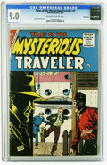 Silver Age (1956-1969):Mystery, Tales of the Mysterious Traveler #1 Bethlehem pedigree (Charlton,1956) CGC VF/NM 9.0 Off-white to white pages. Dick Giordan...