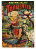 Golden Age (1938-1955):Horror, Tormented #1 (Sterling, 1954) Condition: Apparent VG/FN. Amateurcolor touch. Overstreet 2005 GD 2.0 value = $26; VG 4.0 val...