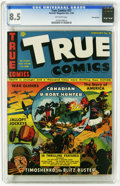 Golden Age (1938-1955):Non-Fiction, True Comics #21 Pennsylvania pedigree (True, 1943) CGC VF+ 8.5Off-white pages. This is currently the highest grade awarded ...