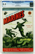 Golden Age (1938-1955):War, United States Marines #nn (#1) Pennsylvania pedigree (MagazineEnterprises, 1943) CGC VF 8.0 Off-white pages. Mart Bailey co...