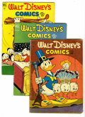 Golden Age (1938-1955):Cartoon Character, Walt Disney's Comics and Stories Group (Dell, 1951-53). This group contains issues #135, 137, 140, 143, 144, 145, 146, 148, ... (Total: 9 Comic Books)
