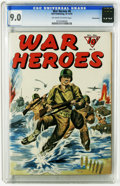 Golden Age (1938-1955):War, War Heroes #6 Pennsylvania pedigree (Dell, 1943) CGC VF/NM 9.0 Off-white to white pages. Tothish art by Bill Discount. This ...
