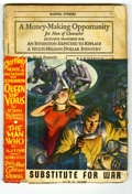 Original Illustration Art:Pulp, Pulp-like, Digests and Paperback Art, Marvel Tales Pulp (Red Circle, 1940) Condition: FR. Remainderedcopy, missing top third of front cover. The November, 1940 i...