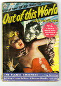 Original Illustration Art:Pulp, Pulp-like, Digests and Paperback Art, Out Of This World Adventures Pulp V1#1 (Avon, 1950) Condition: GD.Cover loose. Contains 32-page color comic section, featur...