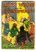 Original Illustration Art:Pulp, Pulp-like, Digests and Paperback Art, Snow White and the Seven Dwarfs Illustrated Story Book (McLoughlinBros., 1938) Condition: GD. Pulp-style illustrated adapta...