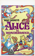 "Movie Posters:Animated, Alice in Wonderland (Buena Vista, R-1974). Window Card (14"" X 22"").Walt Disney's ""Alice in Wonderland"" is one of its classi..."