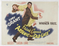 "Arsenic and Old Lace (Warner Brothers, 1944). Half Sheet (20"" X 26""). Frank Capra directs Cary Grant, Peter Lo..."