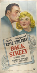 """Movie Posters:Drama, Back Street (Universal, 1941). Three Sheet (41"""" X 81""""). CharlesBoyer and Margaret Sullavan are doomed lovers who are kept f..."""
