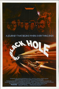 """The Black Hole (Buena Vista, 1979). One Sheet (27"""" X 41""""). A research vessel finds a missing ship, commanded b..."""