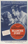 "Movie Posters:Mystery, Blanche Fury (Eagle Lion, 1948). One Sheet (27"" X 41""). GovernessBlanche Fullerton (Valerie Hobson) marries up into the Fur..."