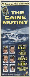 """Movie Posters:War, The Caine Mutiny (Columbia, 1954). Insert (14"""" X 36""""). Blockbusterfilm based on Herman Wouk's bestseller about the court-ma..."""