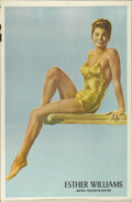 "Movie Posters:Miscellaneous, Esther Williams Personality Poster (MGM, 1948). One Sheet (27"" X 41""). Esther WIlliams never achieved her dream of Olympic g..."