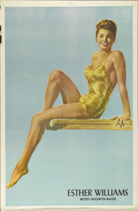 "Esther Williams Personality Poster (MGM, 1948). One Sheet (27"" X 41""). Esther WIlliams never achieved her drea..."