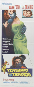 "Movie Posters:Mystery, Experiment in Terror (Columbia, 1962). Insert (14"" X 36""). LeeRemick stars as a bank teller terrorized by a man who plans t..."