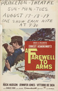 """Movie Posters:War, A Farewell To Arms (20th Century Fox, 1957). Window Card (14"""" X22""""). Despite earlier critical acclaim, """"A Farewell to Arms""""..."""