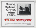 """Movie Posters:Foreign, Fellini Satyricon (United Artists, 1969). Half Sheet (22"""" X 28""""). Federico Fellini directs Martin Potter and Hiram Keller in..."""