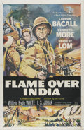 "Movie Posters:Adventure, Flame Over India (20th Century Fox, 1960). One Sheet (27"" X 41"").Kenneth Moore and Lauren Bacall are charged with the safet..."