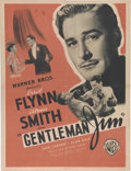 "Movie Posters:Sports, Gentleman Jim (Warner Brothers, 1942). French Petite (23.5"" X 31""). Errol Flynn plays the title role in this biopic of flash..."