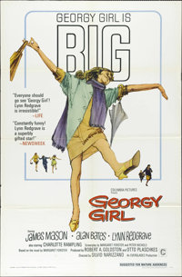 "Georgy Girl (Columbia, 1966). One Sheet (27"" X 41""). James Mason and Lynn Redgrave earned Oscar nominations fo..."