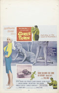 "Movie Posters:Drama, Girls Town (MGM, 1959). Window Card (14"" X 22""). A wonderful 50s-gang-run-amok trash fest starring Mamie Van Doren as the gi..."