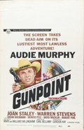 """Movie Posters:Western, Gunpoint (Universal, 1966). Window Card (14"""" X 22""""). Audie Murphy stars in this Western thriller. This poster shows only ver..."""