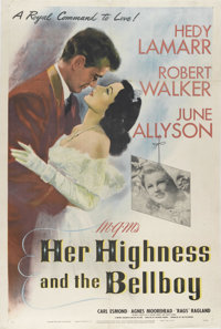 "Her Highness and the Bellboy (MGM, 1945). One Sheet (27"" X 41""). Hedy Lamarr is a princess with a royal dilemm..."