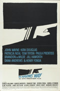 """Movie Posters:War, In Harm's Way (Paramount, 1965). One Sheet (27"""" X 41""""). John Wayne,Kirk Douglas, Slim Pickens, and Carroll O'Connor star in..."""